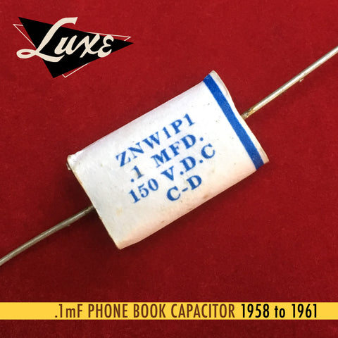 1958-1961 Phone Book: Wax Impregnated Paper & Foil .1mF Capacitor