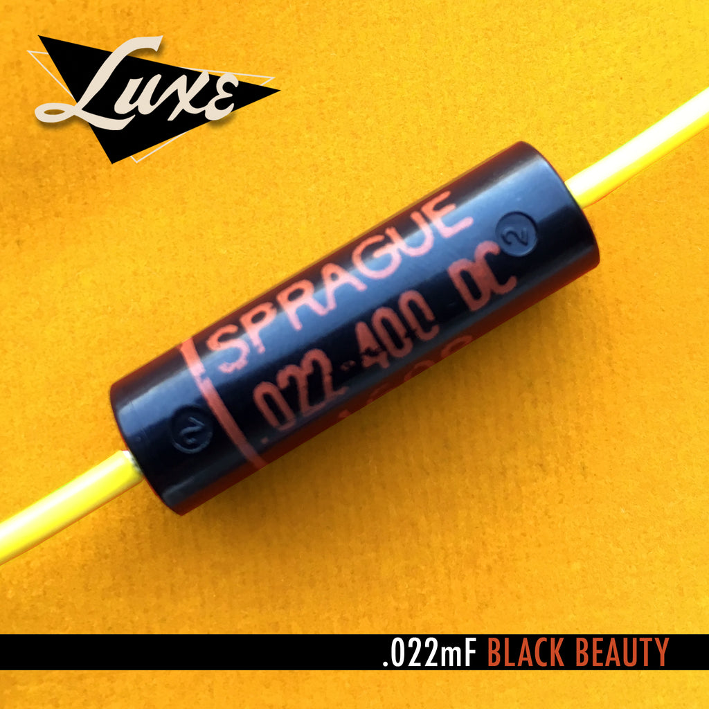1960-1970 Single Paper & Foil .022mF Black Beauty Capacitor