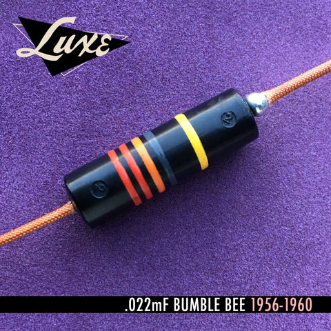 1956-1960 Single Oil-Filled .022mF Bumblebee Capacitor