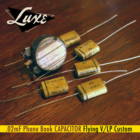 BULK Flying V/LP Custom No Frills Wax & Foil .02mF Phone Book Capacitor