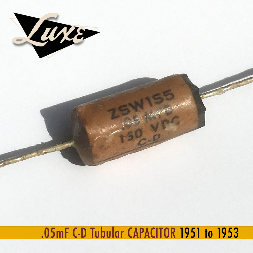 BULK 1951-1953 .05mF Tubular: Wax Impregnated Paper & Foil .05mF Capacitor