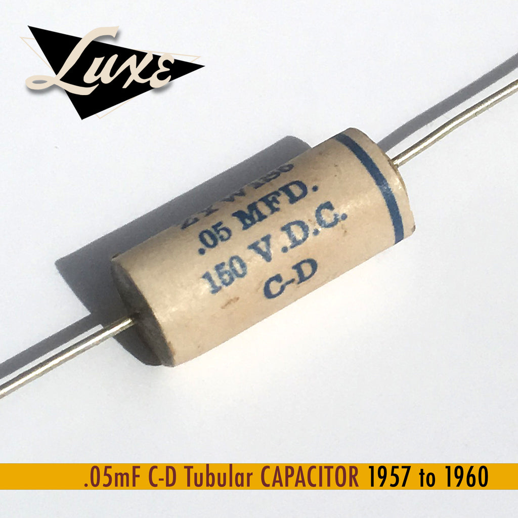 BULK 1957-1960 .05mF Tubular: Wax Impregnated Paper & Foil .05mF Capacitor