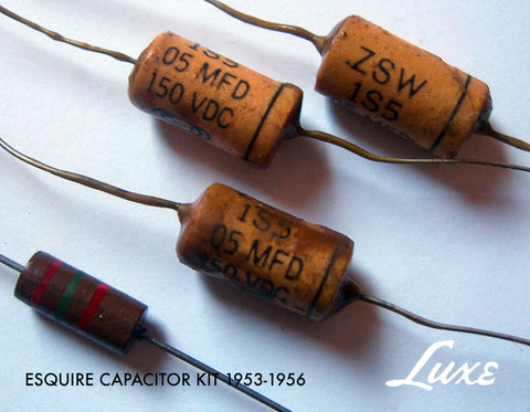 1953-1956 Esquire Kit .05mF Tubular: Wax Impregnated Paper & Foil .05mF Capacitors