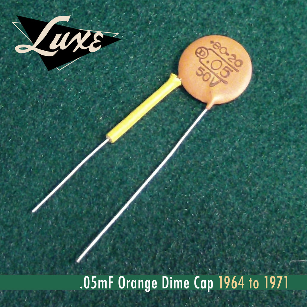 1964-1971 Ceramic Disk .05mF Orange Dime Cap