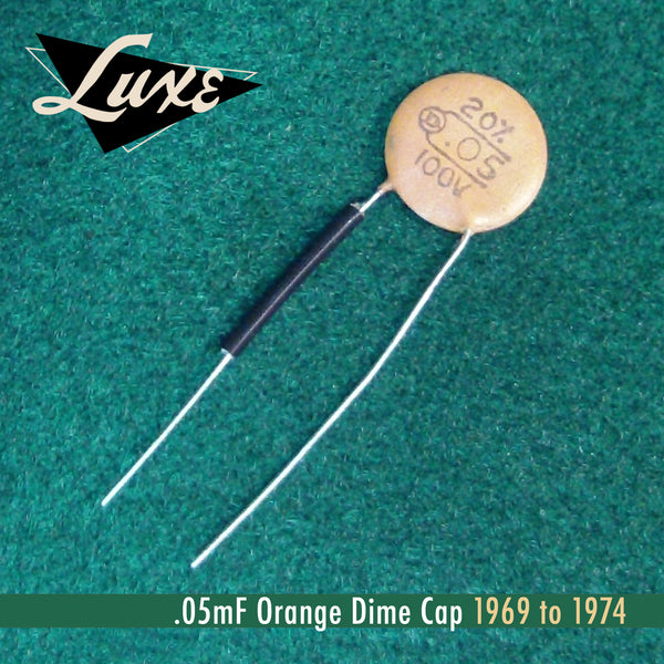 1969 1974 Ceramic Disk 05mf Orange Dime Cap Luxe Radio