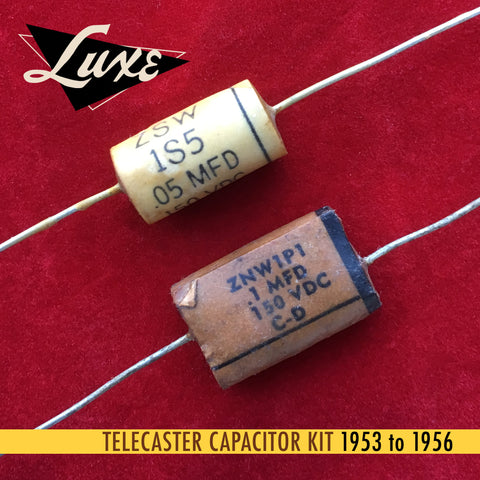 1953-1956 Telecaster: Wax Impregnated Paper & Foil .1mF & .05mF Capacitors