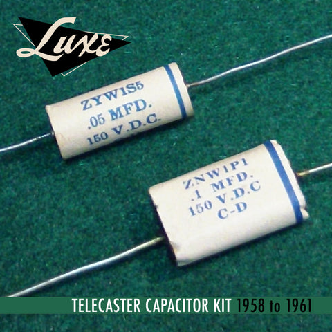 1958-1961 Telecaster: Wax Impregnated Paper & Foil .1mF & .05mF Capacitors