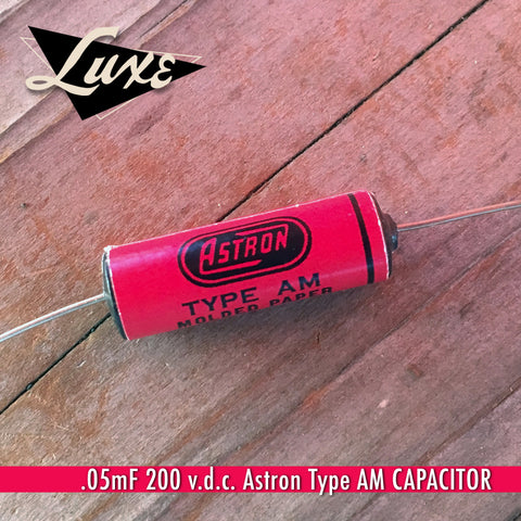 BULK Red Astron Wax Impregnated Paper & Foil .05mF 200v Capacitor