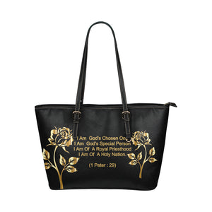Positive Quotes - Leather Tote Bag - TT-Shoes-N-ThingZ