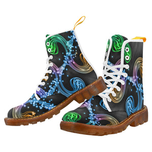 Rainbow Men's Lace Up Canvas Boots - TT-Shoes-N-ThingZ