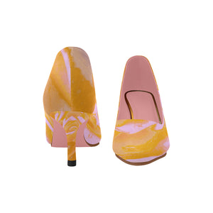 rose-Pointy Toe Low Kitten Heel Pumps - TT-Shoes-N-ThingZ