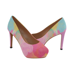 Watercolour 3 Women's High Heels - TT-Shoes-N-ThingZ