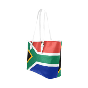 SOUTH AFRICA TOTEBAG Leather Tote Bag (Model 1651) (Big) - TT-Shoes-N-ThingZ