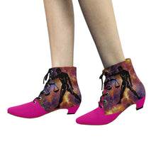 Load image into Gallery viewer, Libra- Women's Chic Low Heel Lace Up Ankle High Boots - TT-Shoes-N-ThingZ