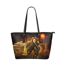 Load image into Gallery viewer, Fire Girl1 - Leather Tote Bag - TT-Shoes-N-ThingZ