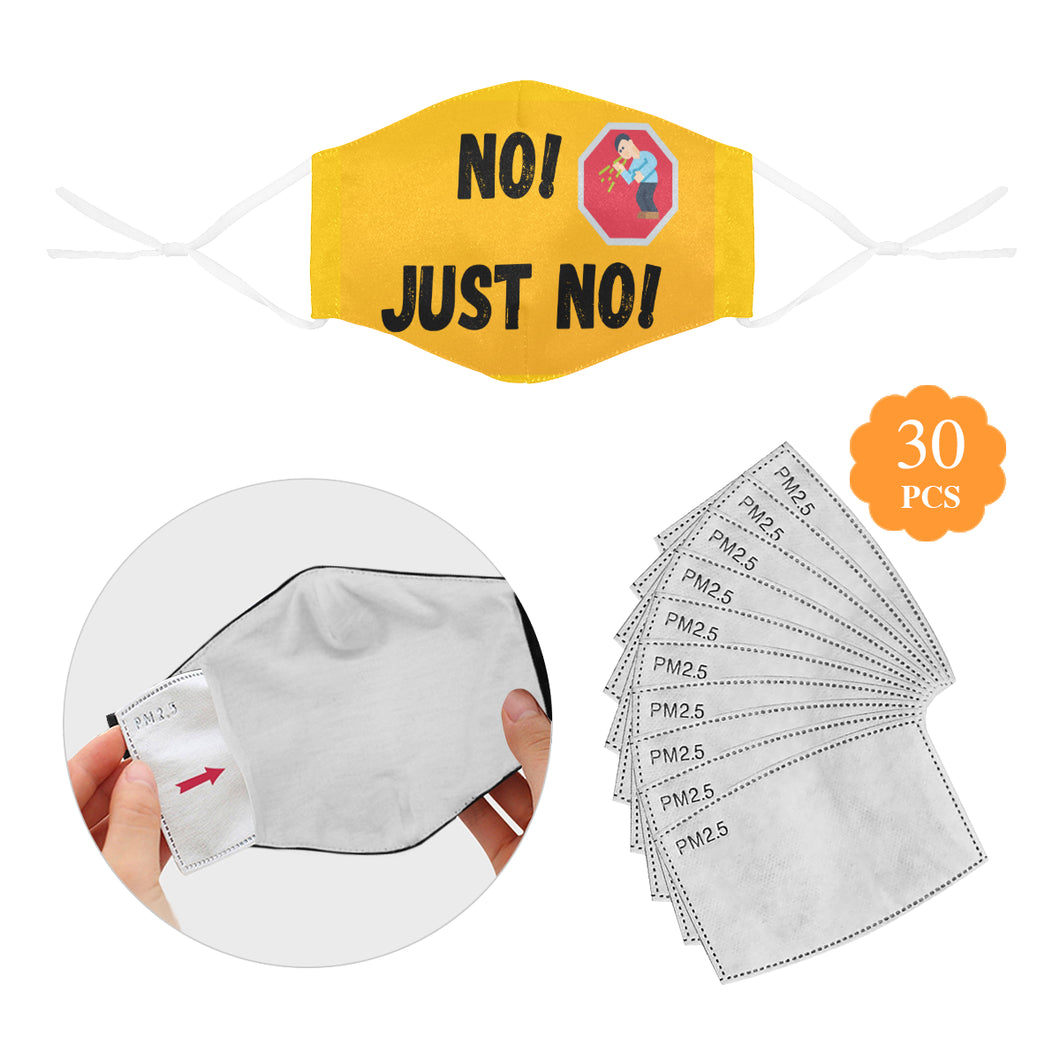 Facemask 23 Cotton Fabric Dust Cover With Adjustable Strip(ModelM04)(30 PCS Filters Included) - TT-Shoes-N-ThingZ