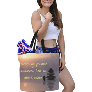 Positive Affirmation ,Canvas Tote Bag(Model1699)(Large) - TT-Shoes-N-ThingZ