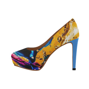 Yellow- Women's High Heels - TT-Shoes-N-ThingZ