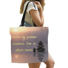 Load image into Gallery viewer, Positive Affirmation ,Canvas Tote Bag(Model1699)(Large) - TT-Shoes-N-ThingZ