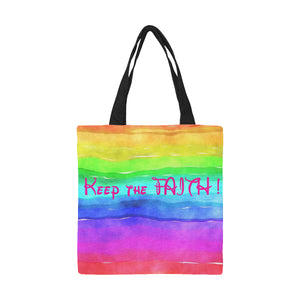 Rainbow Canvas Tote Bag - TT-Shoes-N-ThingZ