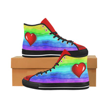 Load image into Gallery viewer, Rainbow love Canvas Women's Shoes - TT-Shoes-N-ThingZ