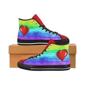 Rainbow love Canvas Women's Shoes - TT-Shoes-N-ThingZ