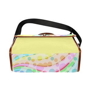 Pastel F Waterproof Canvas Bag - TT-Shoes-N-ThingZ