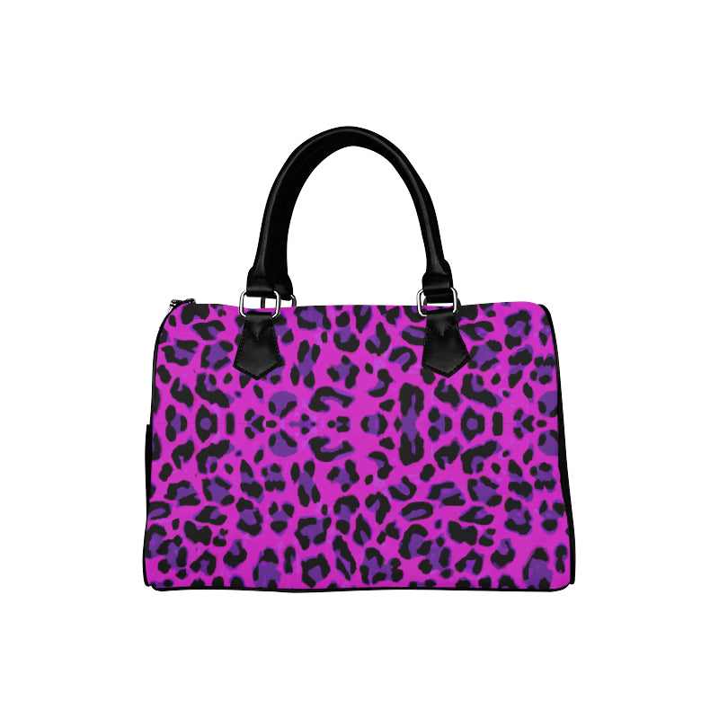 Leopard Purple Barrel Type Handbag - TT-Shoes-N-ThingZ