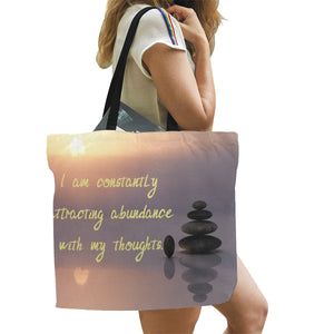 Positive Affirmation 0 All Over Print Canvas Tote Bag(Model1699)(Large) - TT-Shoes-N-ThingZ