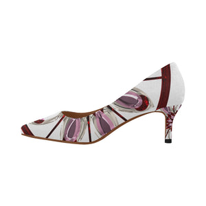 Abstract 1- Women's Pointy Toe Low Kitten Heel Pumps - TT-Shoes-N-ThingZ