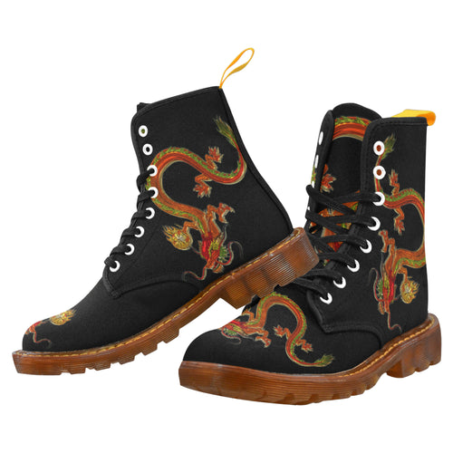 Dragon 1 -Men's Lace Up Canvas Boots - TT-Shoes-N-ThingZ