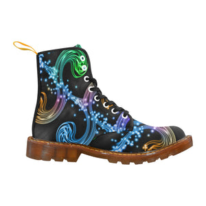 Rainbow 1 Men's Lace Up Canvas Boots - TT-Shoes-N-ThingZ