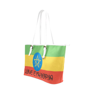 ETHIOPIA TOTEBAG Leather Tote Bag (Model 1651) (Big) - TT-Shoes-N-ThingZ