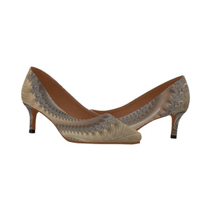 Abstract 7 Women's Pointy Toe Low Kitten Heel Pumps - TT-Shoes-N-ThingZ