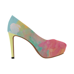 Watercolour 5 Women's High Heels - TT-Shoes-N-ThingZ