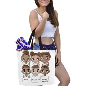 BLM 2- Canvas Tote Bag(Large) - TT-Shoes-N-ThingZ