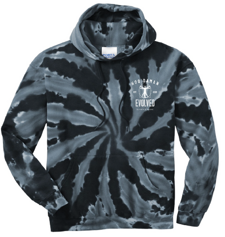 Hoo'DaMan Tie Dye Hooded Sweat (Black)