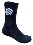 Hoo'DaMan Black Crew Socks