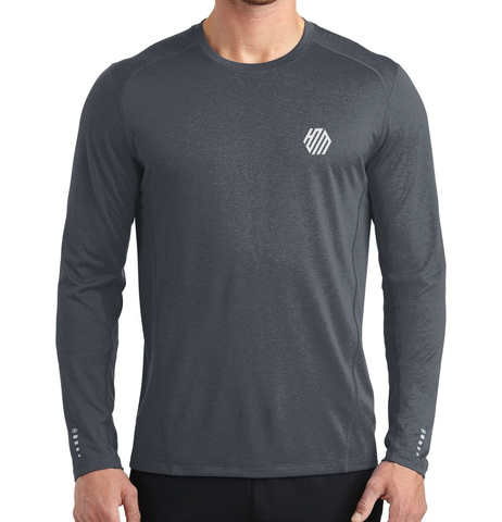 Hoo'DaMan Long Sleeve Pulse Crew – Gear Grey