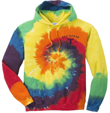 Hoo'DaMan Tie Dyed Hooded Sweat (Rainbow)