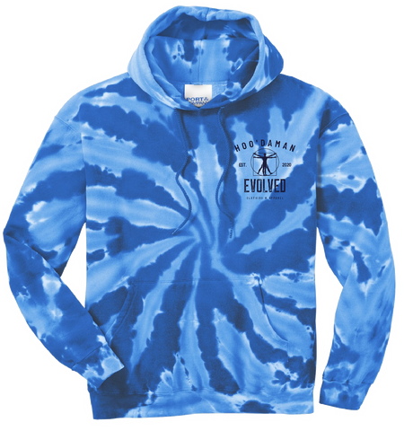 Hoo'DaMan Tie Dye Hooded Sweat (Royal Blue)