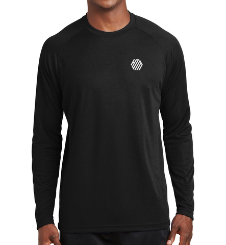 Hoo'DaMan Long Sleeve Raglan Tee - Black