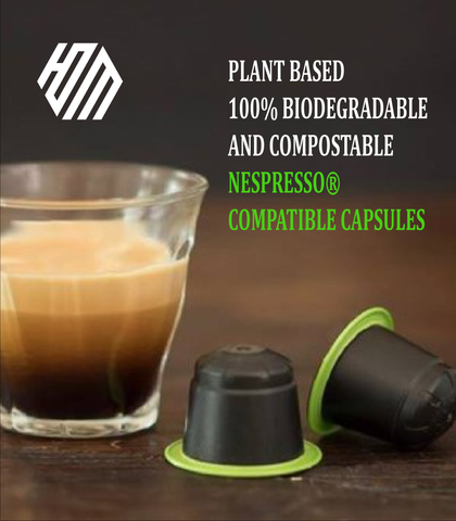 Hoo'DaMan Biodegradable & Compostable Nespresso® Compatible Coffee Pods (10/PK)