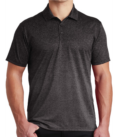 Hoo'DaMan Ombre Heather Polo (Iron Grey/Black)