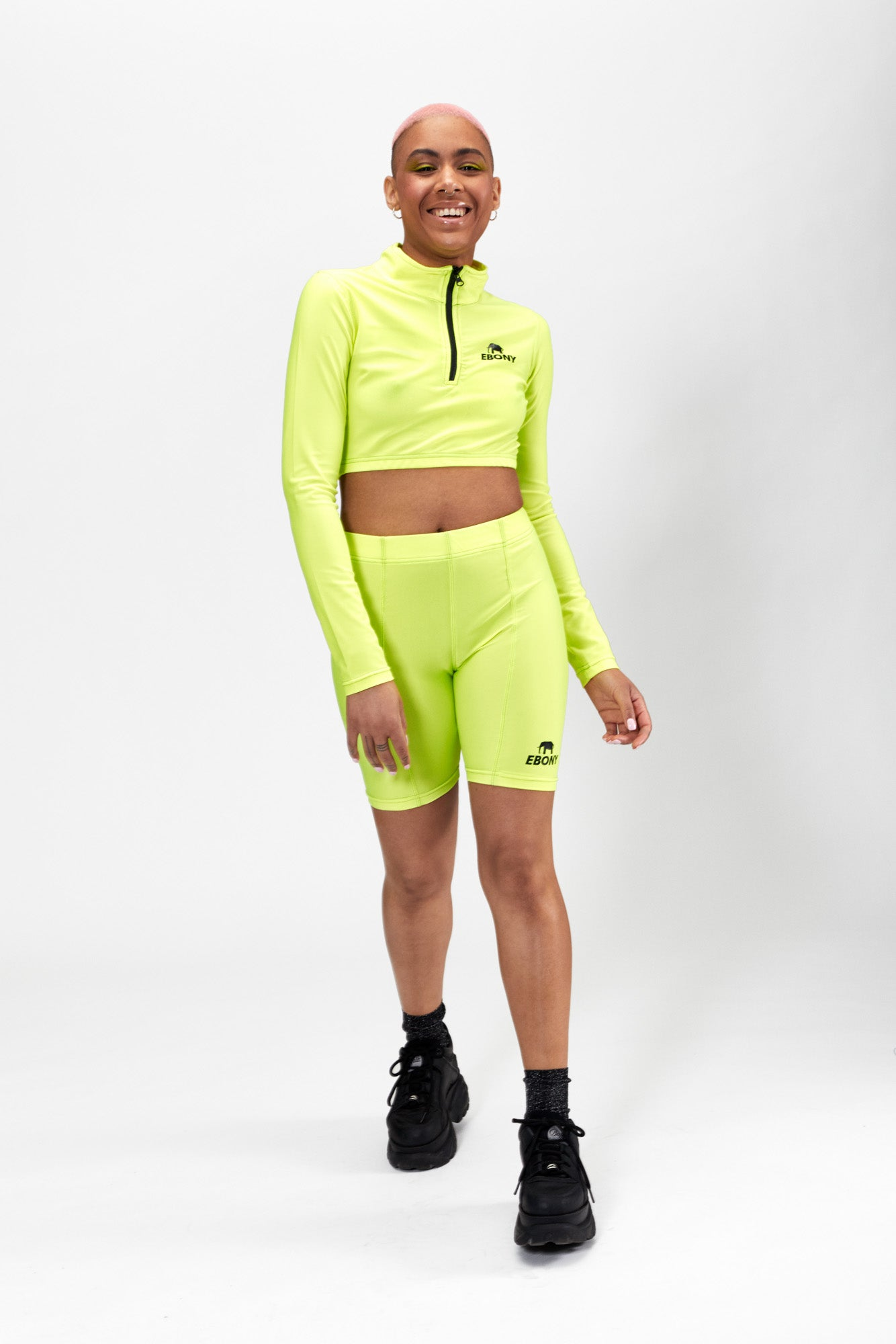 Zip Crop Top Fluo