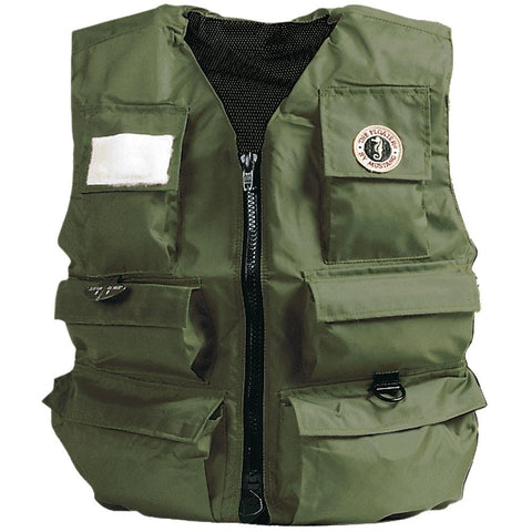 Mustang Manual Inflatable Fisherman Vest [MIV-10-L-OL] - Youth Outdoor Adventure
