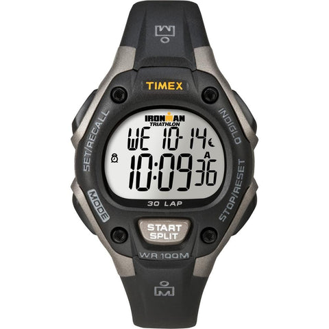 Timex Ironman Triathlon 30 Lap Mid Size - Black/Silver [T5E961] - Youth Outdoor Adventure