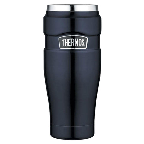 Thermos Stainless King Vacuum Insulated Travel Tumbler - 16 oz. - Stainless Steel/Midnight Blue [SK1005MBTRI4] - Youth Outdoor Adventure