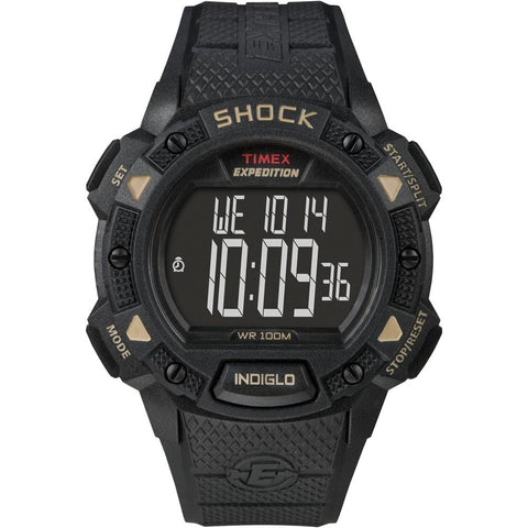 Timex Expedition Shock Chrono Alarm Timer - Black [T49896] - Youth Outdoor Adventure