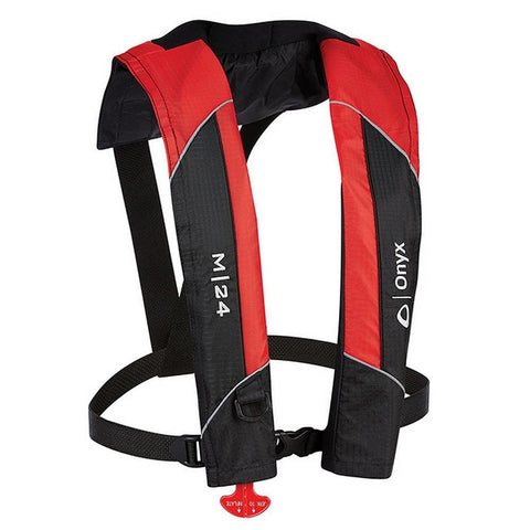 Onyx M-24 Manual Inflatable Life Jacket PFD - Red [131000-100-004-15] - Youth Outdoor Adventure